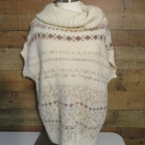 Free People Oversize Cream Wool Blend Sweater S